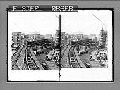 view Elevated R.R., Chatham Square, New York City. [Active no. 477 : stereo photonegative.] digital asset: Elevated R.R., Chatham Square, New York City. [Active no. 477 : stereo photonegative.]