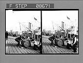 view [Dock scene. Active no. 555 : stereo photonegative.] digital asset: [Dock scene. Active no. 555 : stereo photonegative.]