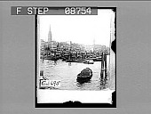 view Antwerp from the harbor, Belgium. [Active no. 697 : non-stereo photonegative,] digital asset: Antwerp from the harbor, Belgium. [Active no. 697 : non-stereo photonegative,] 1905.