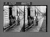 view [Asian children near building. Active no. 1057 : stereo photonegative.] digital asset: [Asian children near building. Active no. 1057 : stereo photonegative.]