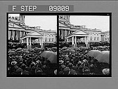 view [Crowd in front of U.S. Capitol at McKinley Inauguration.] 1136 photonegative digital asset: [Crowd in front of U.S. Capitol at McKinley Inauguration.] 1136 photonegative.