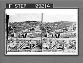 view (18) Garden of Gethsemane and Russian Church on Mt. of Olives. Copyright 1903 by American Stereoscopic Co. 1418 2 photonegative digital asset number 1