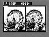 view The Great Ferris Wheel. [Caption 1534 : glass stereosocopic photonegative] digital asset: The Great Ferris Wheel. [Caption 1534 : glass stereosocopic photonegative, 1904.]