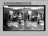 view 1. Receiving Lieutenant and Guests in the Parlor. Copyright 1906 by American Stereoscopic Co. A-86499. 2001 photonegative 1905 digital asset number 1