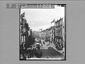 view Karl Johan's Street W.N.W. to the Royal Palace, Christiania. 601 Photonegative 1905 digital asset number 1