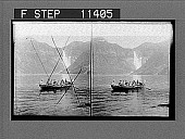 view Superb fall of the Skjaeggedal (525 feet) reflected in the rippling waters of Ringedals Lake. 740 Photonegative 1905 digital asset number 1