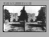 view Everyday life around the picturesque south gate in the old city wall (XIII Cent.) of Wisby. 929 Photonegative 1905 digital asset number 1
