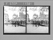view Ostra Storgatan, principal street of Jonkoping, and bridge over Canal. [Active no. 940 : stereo photonegative,] 1905 digital asset number 1
