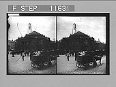 view Mid-day traffic in the street before Copenhagen's beautiful National Theatre. 1025 Photonegative 1905 digital asset number 1