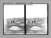 view Wheeling salt to the stacks, salt fields of Solinen. 1219 Photonegative digital asset: Wheeling salt to the stacks, salt fields of Solinen. 1219 Photonegative 1910.