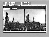 view The cathedral, the world's finest Gothic structure (towers 519 feet high), Cologne. 1229 Photonegative digital asset: The cathedral, the world's finest Gothic structure (towers 519 feet high), Cologne. 1229 Photonegative 1908.