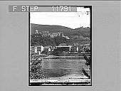 view Heidelberg castle and Neckar River. 1244 photonegative 1901 digital asset number 1