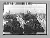 view Konig Strasse, main avenue of beautiful Stuttgart S.W. past the Stiftskirche. 1251 Photonegative 1905 digital asset number 1