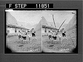 view Bavarian mountaineers; Bavarian country cottage. photonegative 1907 digital asset number 1