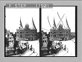view Medieval gateway of old town of Lubeck--the Holstenthor from the E. 1322 Photonegative 1905 digital asset number 1