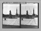 view Statue of Bismarck and lofty pillar of Victory, W. from Parliament Building, Berlin. 1335 photonegative digital asset: Statue of Bismarck and lofty pillar of Victory, W. from Parliament Building, Berlin. 1335 photonegative 1905.