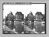 view Quaint old houses on Pegnitz, Nuremberg, and dome of synagogue. 1408 photonegative 1905 digital asset number 1