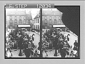 view In the Fish Market, Bruges. [Active no. 1485 : stereo photonegative,] 1905 digital asset number 1