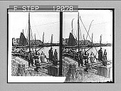 view Beside the Zuider Zee--thrifty Dutch villagers on the fishermen's wharf at Volendam. 1524 Photonegative digital asset: Beside the Zuider Zee--thrifty Dutch villagers on the fishermen's wharf at Volendam. 1524 Photonegative 1905.