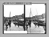 view Everyday business on the narrow water-way of a little Dutch town, Volendam. 1525 Photonegative digital asset: Everyday business on the narrow water-way of a little Dutch town, Volendam. 1525 Photonegative 1905.