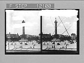 view Bastille Monument, Paris. [Caption 1542 : stereo photonegative,] 1911 digital asset number 1