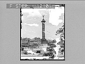 view Bastille Monument, Paris. Caption 1542 : photonegative digital asset number 1