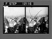 view Avenue Hoche, Avenue de Friedland and Montmartre Heights, from the top of the Arch of Triumph, Paris. 1553 Photonegative 1905 digital asset number 1