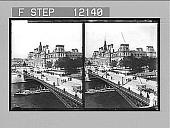 view The Hotel de Ville (City Hall) and d'Arcola Bridge, Paris. 1567 Photonegative digital asset: The Hotel de Ville (City Hall) and d'Arcola Bridge, Paris. 1567 Photonegative 1905.