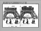 view Eiffel Tower to the Trocadero and Colonial Section, Exposition 1900. [Active No. 1662 : stereoscopic photonegative,] 1900 digital asset number 1