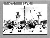 view Pont Alexander III and the little Palace of Fine Arts. 1698 Photonegative 1900 digital asset number 1