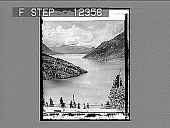 view The Lake of Lucerne from the Axenstein. [Active no. 1748 : non-stereo photonegative,] digital asset: The Lake of Lucerne from the Axenstein. 1748 Photonegative 1903.