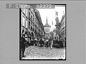 view Principal street and old Clock, Berne. 1754 Photonegative 1896 digital asset number 1