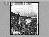 view Ancient Thun and its Lake, from the Castle. 1756 Photonegative 1896 digital asset number 1