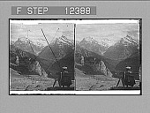 view Grindelwald Valley, the Wetterhorn and Schreckhorn, from Schynige Platte. 1759 Photonegative digital asset number 1