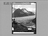 view The great Aletsch glacier and Marjelen Lake--west from the Eggishorn. 1786 Photonegative digital asset number 1