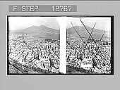 view Birdseye view of Naples and Vesuvius. Active no. 2011 : stereo photonegative digital asset: Birdseye view of Naples and Vesuvius. Active no. 2011 : stereo photonegative, 1908.