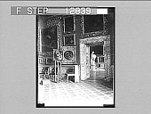 view Glimpse in the Pitti Palace Gallery, Florence--showing one of Raphael's famous Madonnas. 2050 photonegative digital asset: Glimpse in the Pitti Palace Gallery, Florence--showing one of Raphael's famous Madonnas. 2050 photonegative 1905