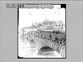 "view The old Roman ""Ponte Pietro"" and Castle of St. Pietro, Verona. 2054 Photonegative digital asset: The old Roman ""Ponte Pietro"" and Castle of St. Pietro, Verona. 2054 Photonegative."