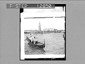 "view Venice--""White swan of cities, slumbering in the nest""--Campanile, Doge's Palace and Prison. [Active no. 2056 : half-stereo photonegative,] 1905 digital asset number 1"