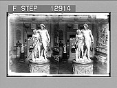 """view """"Baccus and Ampelus,"""" Uffizi Gallery, Florence. 2143 photonegative digital asset: """"Baccus and Ampelus,"""" Uffizi Gallery, Florence. 2143 photonegative 1905."""