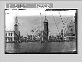 view The Venetian Lion, in the Piazzette--from the Lagoon, Venice. 2152 Photonegative digital asset: The Venetian Lion, in the Piazzette--from the Lagoon, Venice. 2152 Photonegative 1905.