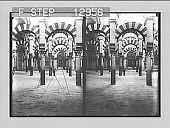 view A forest of columns, in the old Moorish part of the Cathedral-Mosque, Cordova. 2198 Photonegative 1905 digital asset number 1