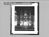 view Court of the Lions--silent but magnificent testimony to long departed grandeur--Alhambra, Granada. 2209 Photonegative 1905 digital asset number 1