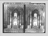 view Court of the Lions--silent but magnificent testimony to long departed grandeur--Alhambra, Granada. 2209 Photonegative digital asset: Court of the Lions--silent but magnificent testimony to long departed grandeur--Alhambra, Granada. 2209 Photonegative 1905.
