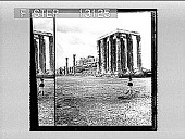 view The Parthenon, N.W. from the Temple of the Olympian Zeus, Athens. 2371 photonegative digital asset: The Parthenon, N.W. from the Temple of the Olympian Zeus, Athens. 2371 photonegative.