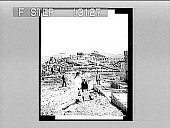 view The Acropolis, the glory of ancient Athens, N.E. from Philopappos monument. Caption no. 2372 : photonegative digital asset: The Acropolis, the glory of ancient Athens, N.E. from Philopappos monument. Caption no. 2372 : photonegative.