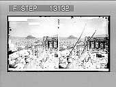 view Athens, from the Parthenon. [Active no. 2373 : stereo photonegative,] digital asset: Athens, from the Parthenon. [Active no. 2373 : stereo photonegative,] 1908.