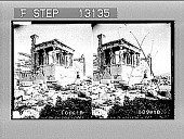 view The Caryatids in Portico of the Maidens, the Erechtheion, Acropolis, Athens. Active no. 2376 : stereo photonegative digital asset: The Caryatids in Portico of the Maidens, the Erechtheion, Acropolis, Athens. Active no. 2376 : stereo photonegative, 1907.