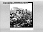 view The Temple, decaying remnant of old Corinth's glory--S. to Arco-Corinth. 2444 : photonegative digital asset: The Temple, decaying remnant of old Corinth's glory--S. to Arco-Corinth. 2444 : photonegative, 1905.