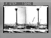 view Pompey's Pillar, the sailor's landmark, and modern Alexandria, N. toward the sea. Active no. 2518 : photonegative digital asset: Pompey's Pillar, the sailor's landmark, and modern Alexandria, N. toward the sea. Active no. 2518 : photonegative, 1910.